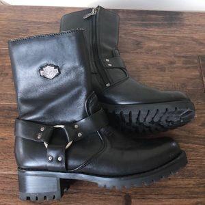 Harley Davidson Leather Biker Boots